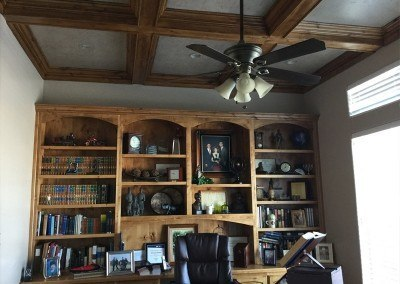 Bookcase installed by Brett K. Lynn Construction finish work.