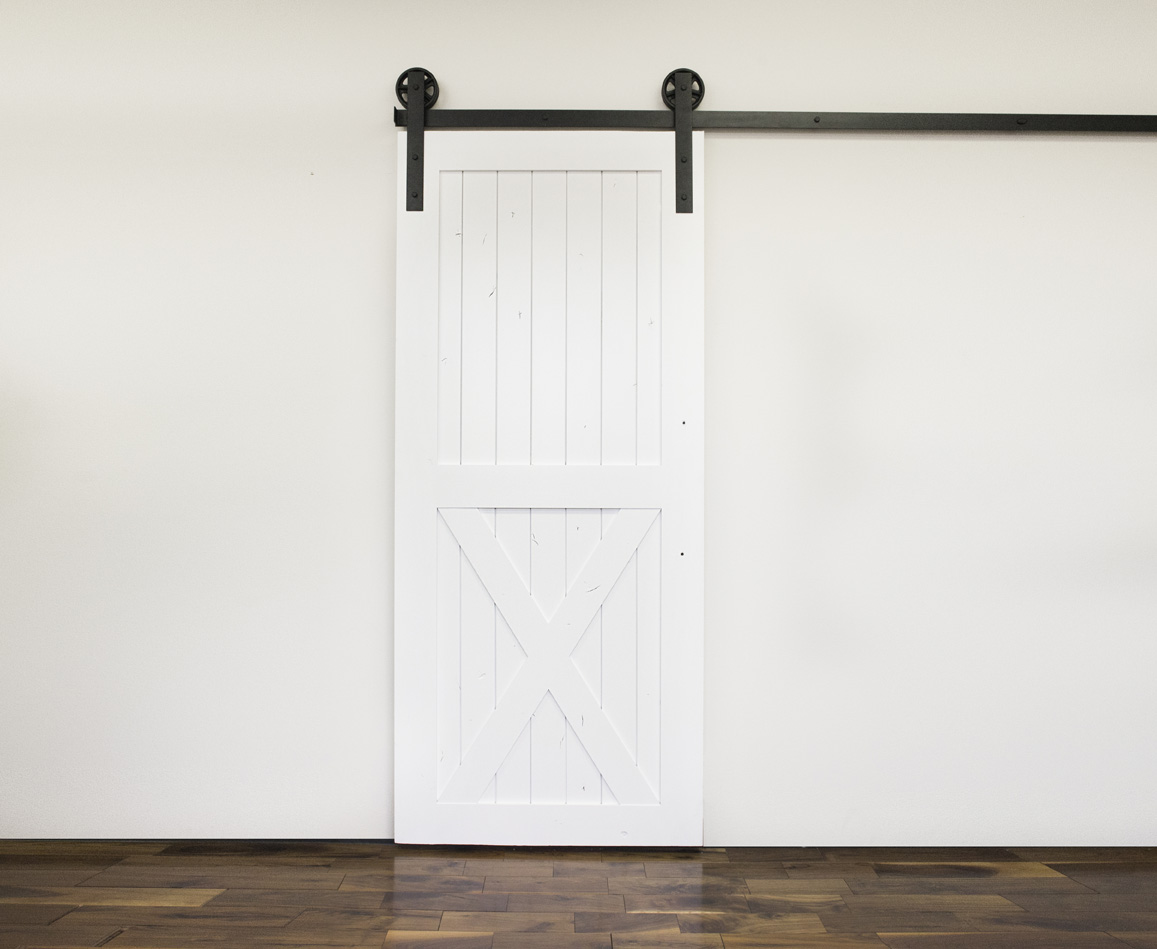 2 Panel Half X Styled Barn Door